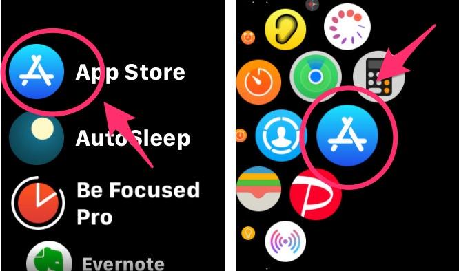 Apple Watch版「AppStore」アプリ