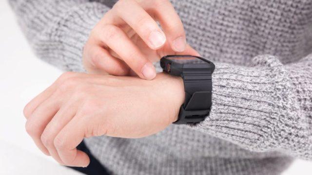 Apple Watchを時計として使う様子