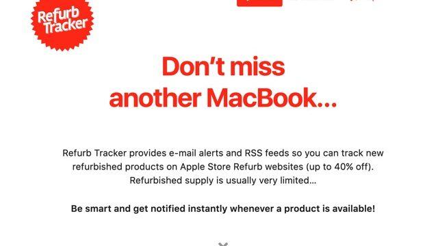 Refurb Tracker